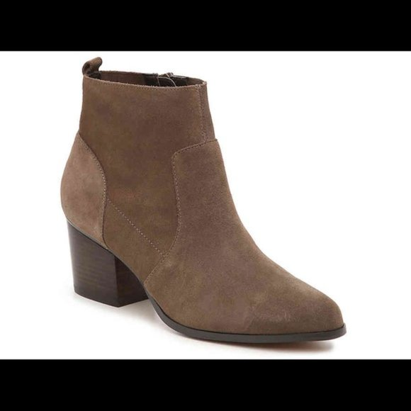 Crown Vintage Saleen Taupe Faux Suede Bootie
